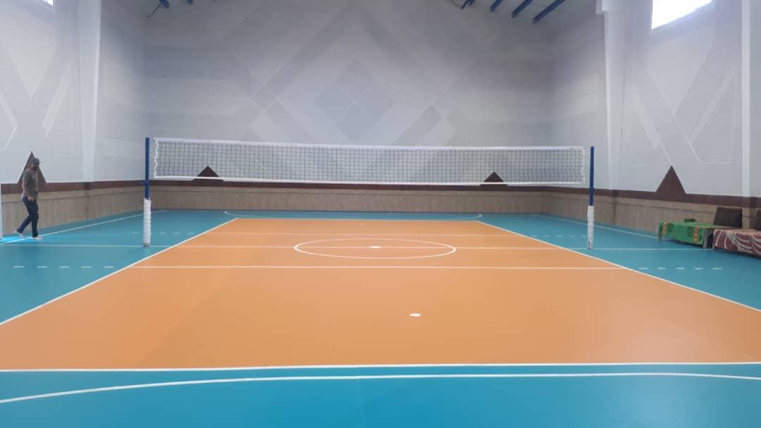 پروژه کفپوش سالن والیبال گرگان
